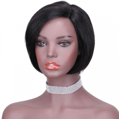 8.5 Inches L Part Human Hair Lace Wig Harlem Short Straight Hair BoBo Wig Laborhair-666