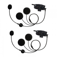 C3 BT Interphone 1000M Motorcycle Helmet Bluetooth 3.0 Hands Free Intercome Headset With Built-In FM (2 Pack)