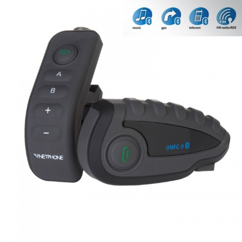V8 1200M NFC Helmet Interphone 5 Riders Intercom Headset with Bluetooth Function
