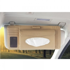 RFID leather Car CD Visor Organizer Multi-Purpose Auto Car CD Visor Organizer With 5 CD OR DVD, 4 Credit Card ,1 Pen And Tissue