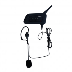1200m Full-duplex 4 User Intercom Helmet Waterproof Interphone with Bluetooth Function V4C