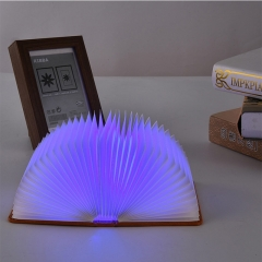 Creative Flip Book Page LED Book Shape Light Portable Paper Folding Light Book Lamp Table Lamp Hanging Wall Light