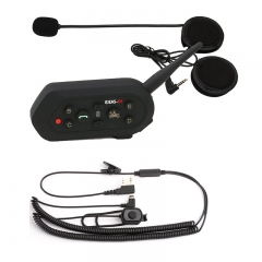 [Update version] Waterproof E6 BT 1200M Range Motorcycle and Scooter Bluetooth Headset / Intercom Sports Helmet Intercom Bluetooth Interphone (1 Pack)