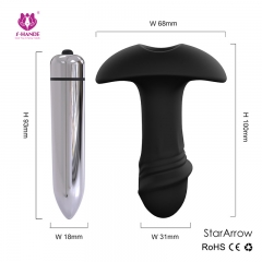 Using The Bullet And Silicone Anal Plug Combined With The Movement With The Mood To Choose Waterproof