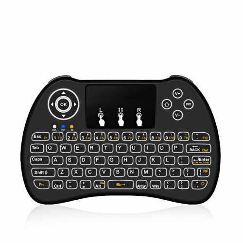 H9 Wireless QWERTY White Backlit 2.4GHz Touchpad Keyboard Air Mouse For TV Box MINI PC keyboards