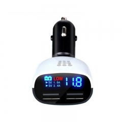 Universal 12/24V To 5V 3.4A Dual USB Ports LED Car Charger Travel Charger For Smart Phone