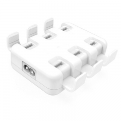 MQD Smart 6-Port High Speed Desktop USB Charger For iPhone iPad Samsung 50W
