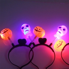Halloween Decoration Dress Up Light Pumpkin Headdress Party Party Stage Performance Headdress