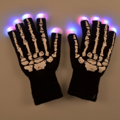 Skeleton Luminous Gloves LED Gloves Glowing Gloves Halloween Supplies