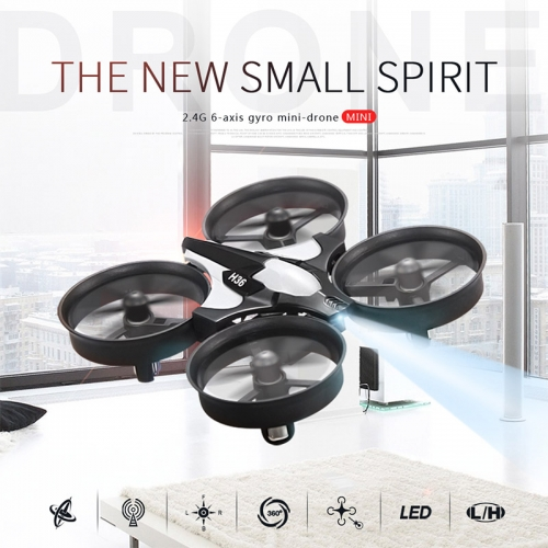 JJRC H36 Mini 2.4G 4CH 6 Axis Headless Mode LED Light RC Drone Quadcopter RTF Christmas gifts