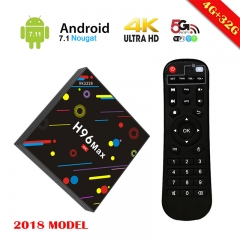 H96 MAX Android 7.1 RK3328 Fast 4GB+32GB Quad Core KD Loaded Smart TV Box, USB 3.0, 2.4G 5G AC Dual Band WIFI ,4K H.265.Factory Outlet, brand-quality