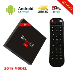 EstgoSZ E9 H96 MAX H2  4GB 64GB Android 7.1 RK3328 Quad Core 4GB 64GB Supporting KD 4K (60Hz) Full HD /H.265 / Dual WiFi BT 4.0 Smart Media Player