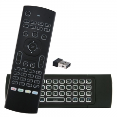 MX3 Pro Backlight Mini Wireless Keyboard Air Mouse SAR CCTHYP 3D Fly Controller Built-in 3-Gyro 3-Gsenso with Nano USB Receiver Perfect for TV