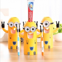 Children, couple toothbrush holder automatic toothpaste plastic cartoon mouth mug toothbrush three-in-one wash suit