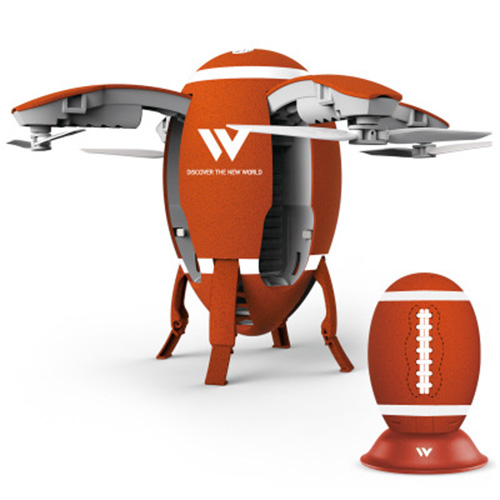 W5 folding egg-shaped drone football wifi real-time aerial positioning fixed four-axis aircraft remote control aircraft
