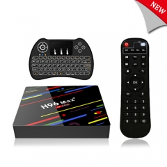 H96 Max plus RK3328 Android 8.1 TV Box,4GB RAM 64GB ROM,Quad-Core Processor,H.265 /wifi2.4G/5G Smart TV Box,4K Ultra HD,with Mini Wireless Backlit