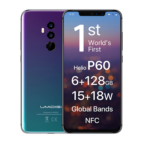 UMIDIGI Z2 PRO 6GB RAM 128GB ROM Phablet 6.2 inch Android 8.1 Dual Fast Charge Quad Cameras Fingerprint Recognition smartphone