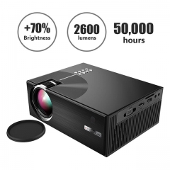 Estgosz 3000 Lumens Mini Projector 1080P Portable LED Projector HD Home Theater with 2018 Updated Low Noise Stereo Speaker,Support HDMI VGA AV USB TV,