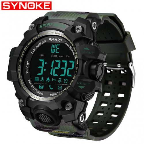 Fashion Men's Outdoor Mountaineering Bluetooth Smart Waterproof Watch Phone Mate For Android IOS iPhone