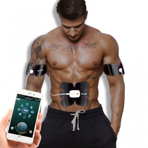 Smart APP EMS Stimulator Trainer Massage Pain Relief Abs Body Shape Muscle Office Fitness Equipment