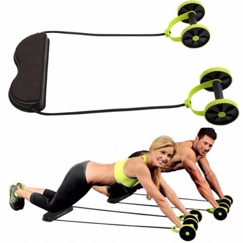 home Multifunctional Abdominal Wheel Resistance Pull Rope Intensity Adjustable Muscle Fitness Equipment multi-function slimming abdominal device