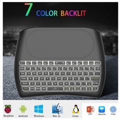 D8 mini Portable Silk screen Version wireless 2.4GHz keyboard Touchpad MX3 Air Mouse