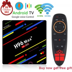 Xmas gift H96 Max Plus Android 8.1 4G+32G RK3328 Set Top Boxes 4K Ultra HD H.265 Smart TV Box USB 3.0 Dual Wifi 2.4/5.0G Media Player