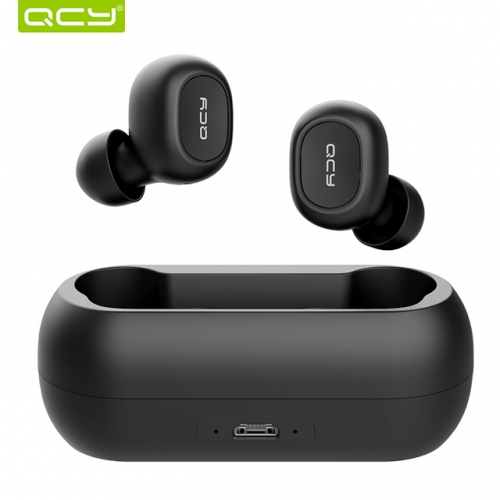 QCY T1C Mini Bluetooth Earphones with Mic Wireless Sports Headphones Noise Cancelling Headset 3D stereo wireless earphone and charging box