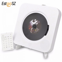 KECAG CD Player Wall Mountable Bluetooth Portable Home Audio Box with Remote Control FM Radio Built-in HiFi Speakers MP3