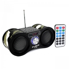 EstgoSZ V-113 FM Radio fleco Stereo Digital Receiver Speaker USB Disk MP3 Music Player with Remote Control F1308
