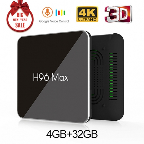 ESTGOSZ H96 max X2 Android 8.1 4GB+32GB 4K S905X2 Quad Core 2.4/5G WIFI USB3.0 Set Top TV box