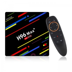 ESTGOSZ H96 Max plus RK3328 Android 8.1 TV Box,4GB RAM 64GB ROM,Quad-Core Processor,H.265 /wifi2.4G/5G Smart TV Box,4K Ultra HD,with G10 air mouce