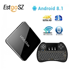 ESTGOSZ H96 Max X2 Android 8.1 S905X2 4GB DDR4 RAM 64GB ROM 4K 5G WiFi USB3.0 TV BOX with H9 Wireless backlit keyboard