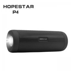 HOPESTAR P4 Outdoor Wireless Bluetooth Speaker Power Bank 10W Portable Bass Stereo Loudspeaker MP3 With Mic Flashlight
