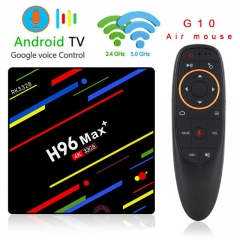 H96 Max Plus Android 8.1 4G+32G RK3328 Set Top Boxes 4K Ultra HD H.265 Smart TV Box USB 3.0 Dual Wifi 2.4/5.0G Media Player with Air mouse