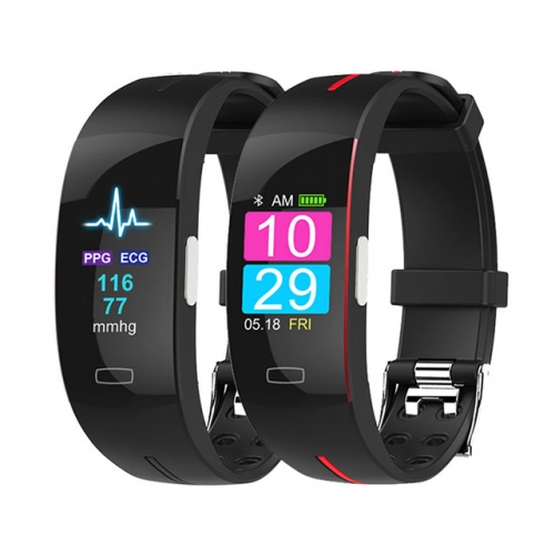 H66plus blood pressure wrist band heart rate monitor PPG ECG smart bracelet sport watch Activit fitness tracker wristband
