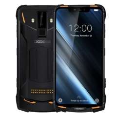 DOOGEE S90  Super Bundle 6GB RAM 128GB ROM phone Helio P60 Octa Core 6.18 Inch FHD+ IP68 NFC 5050mAh Large battery 4G Smartphone-Orange
