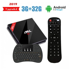 H96 Pro Plus Android 7.1 TV Box 3G RAM + 32G ROM Amlogic S912 Octa Core Smart BOX Dual WiFi 2.4G/5.8GHz Bluetooth 4.1 with H9 Keyboard