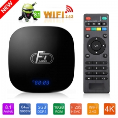 A95X F1 Smart TV Box Android 8.1 2+16GB TV box Amlogic S905W  WIFI 2.4G Quad Core Suppot H.265 4K Media Player Set Top Box