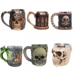 Ghost Head Shape Cup Stainless Steel Coffee Or Tea Skull Mug