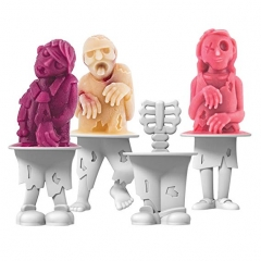 Playful Pop Molds, Fun Zombie Characters,Create Icy and Delicious Popsicle