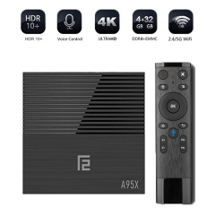 A95X F2 4 GB 32 GB Android 9.0 TV Box ,Quad-core Cortex-A53 2.4G/5 GHz Dual WiFi 4K HDR Support YouTube, Facebook, Google