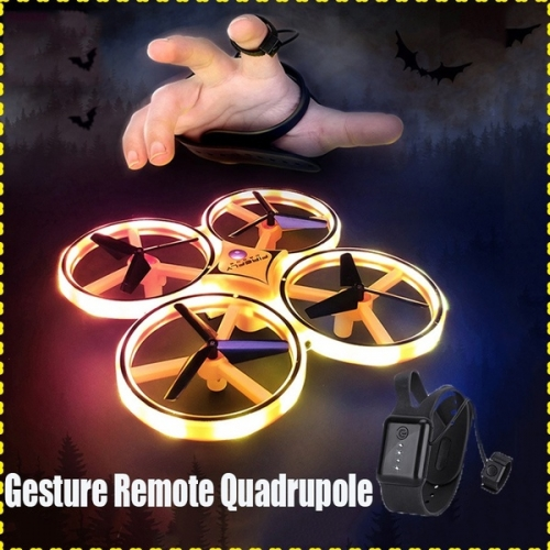 2019 Mini Infrared Induction Hand Control Altitude Hold RC Drone 2 Controllers Quadcopter for Kids Toy Gift