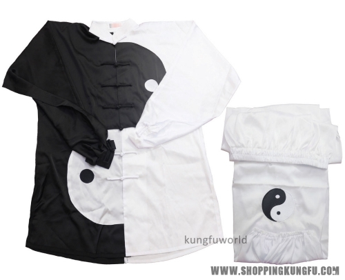Yin Yang Design Embroidery Tai chi Uniform Martial arts Wing Chun Kung fu Suit