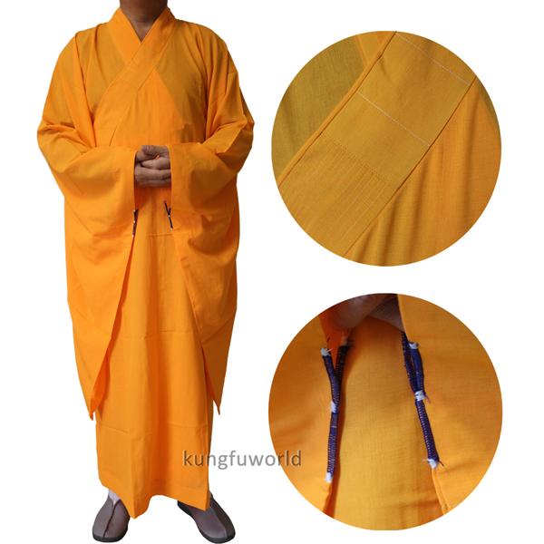 High Quality Buddhist Monk Dress 25 Panels Red Kesa Haiqing Robe Meditating Suit