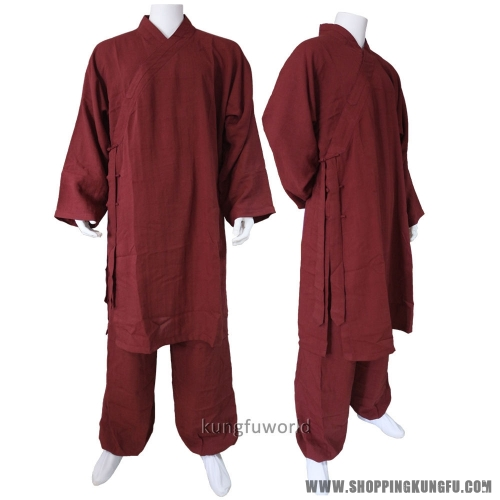 Custom Make 25 Colors Linen Shaolin Uniform Buddhist Monk Kung fu Martial arts Suit Tai chi Wudang Taoist Clothes