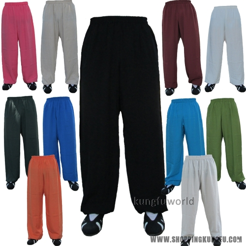 Custom Shaolin Monk Wushu Kung fu Tai chi Martial arts Pants with side Pockets