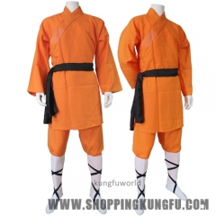 Popular Orange Polyester Shaolin Kung fu Uniform