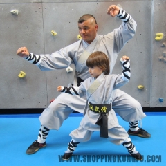 Gray Cotton Shaolin Monk Kung fu Uniform Wushu Martial arts Suit Full Sizes for Kids&Adults