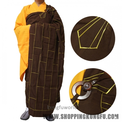 Top Quality Buddhist Monk Dress Kesa with inside Haiqing Robe Shaolin Uniform Meditation Suit